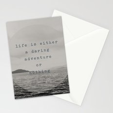 life is either a daring adventure ... or nothing Stationery Cards
