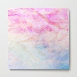 Crumpled Paper Textures Colorful P 1015 Metal Print