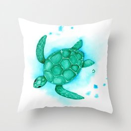 Nursery Style Sea Turtle Throw Pillow
