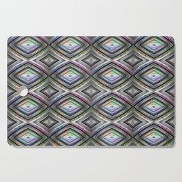 Bright symmetrical rhombus pattern Cutting Board