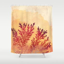 Manganese Dendrites On Fire Shower Curtain