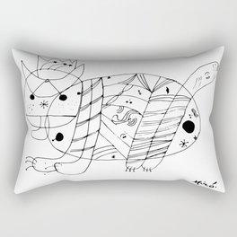 Joan Miro El Gato The Cat Artwork for Prints Posters Tshirts Men Women Kids Rectangular Pillow