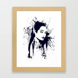 A Girl Framed Art Print