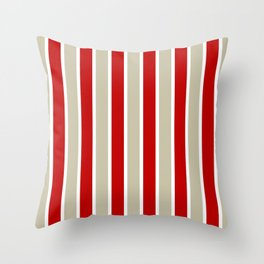 Stripes - red and tan  Throw Pillow