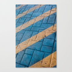 Yellow Lines at the ground Canvas Print
