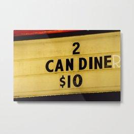 2 can diner Metal Print