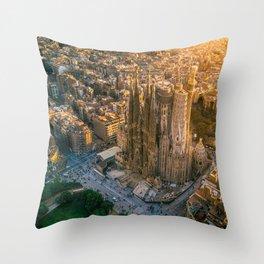 Scale of Sagrada Familia Throw Pillow