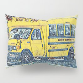 Back to School - The Yellow School Bus Pillow Sham