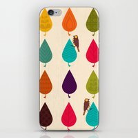 leaves iPhone & iPod Skins featuring Leaves by Kakel