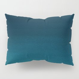 Navy blue teal hand painted watercolor paint ombre Pillow Sham