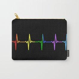Rainbow Heartbeat Pulse LGBT Carry-All Pouch