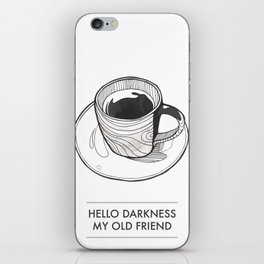 Coffee Illustration iPhone Skin