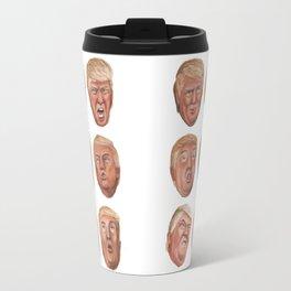 Faces Of Donald Trump Travel Mug