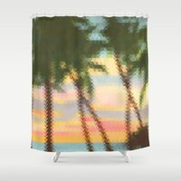 palm Shower Curtains featuring palm by OVERall
