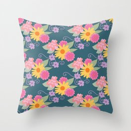Bloom Bright Throw Pillow