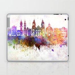 Innsbruck skyline in watercolor background Laptop & iPad Skin