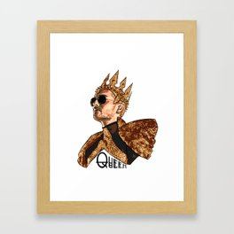 Queen Bill - Black Text Framed Art Print