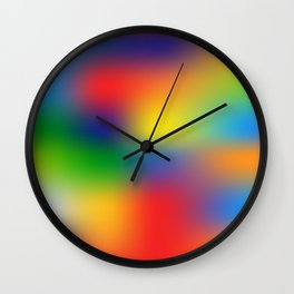 Abstract Colorful illustration Wall Clock