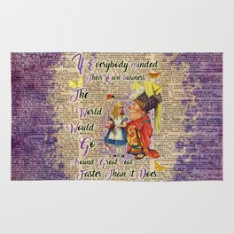 Alice with The Duchess Vintage Dictionary Art Rug