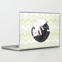philosophy Laptop & iPad Skins featuring Cat Philosophy by Emily Andrus Lopuch