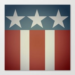 Three Starred Spangle Banner Canvas Print