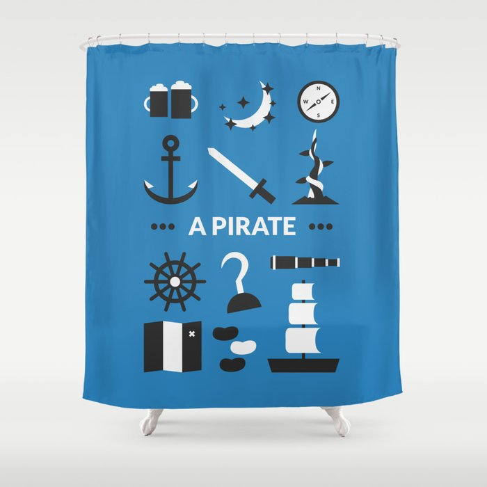 incredible Pirate Shower Curtain Part - 4: OUAT - A Pirate Shower Curtain