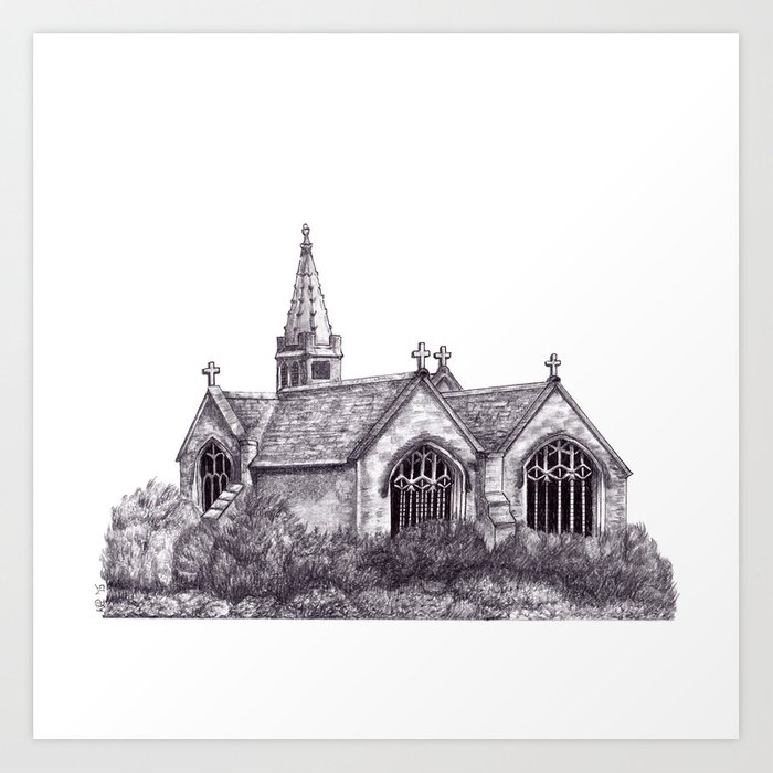 All Saints Parish Church Art Print