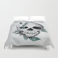 boho Duvet Covers featuring Skull Boho  by LouJah