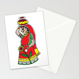 Beauty | Madhubani Painting |  Madhubani Hub | Original painting of Amrita Gupta Stationery Cards
