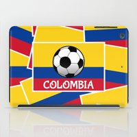 colombia iPad Cases featuring Colombia Football by mailboxdisco