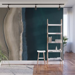Footsteps during sunrise at a desert lake - Landscape Photography Wall Mural