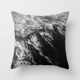 Washington Cascade Mountain Ariel View Throw Pillow