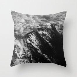 Washington Cascade Mountain Ariel View Throw Pillow