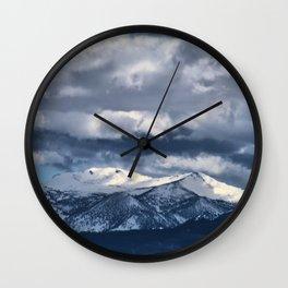 Snowcapped Sierras Wall Clock