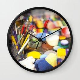 Color the clown Wall Clock