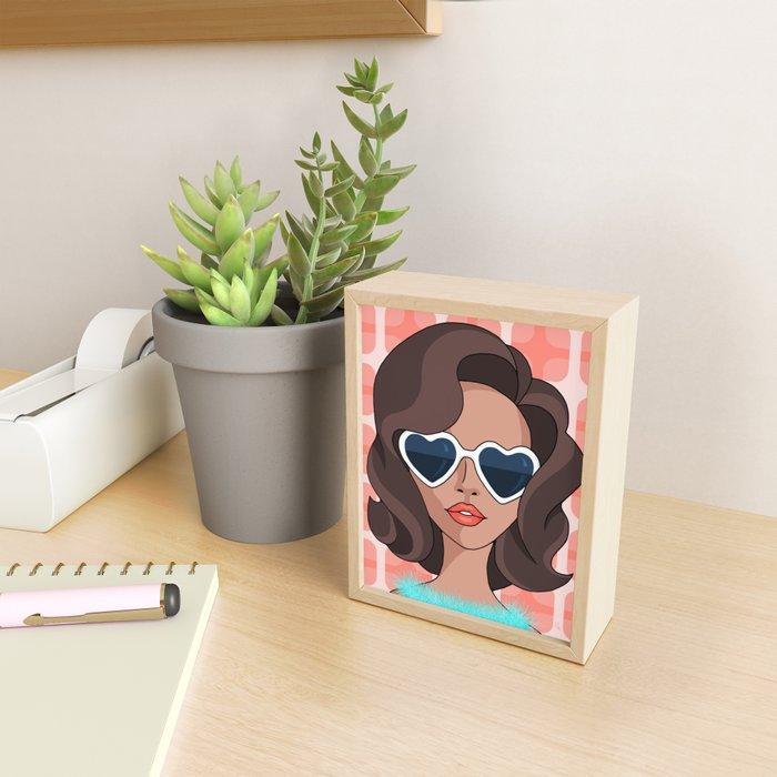Gina Framed Mini Art Print