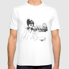 Pierrot the clown White MEDIUM Mens Fitted Tee