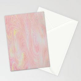 Red and Yellow Marble Effect Stationery Cards
