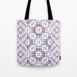 Lace Geometric Tote Bag