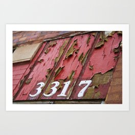 Chicago Apartment Numbers Art Print