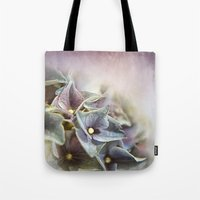 hydrangea Tote Bags featuring HYDRANGEA by INA FineArt