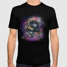 deep space monkey Mens Fitted Tee Black 2X-LARGE