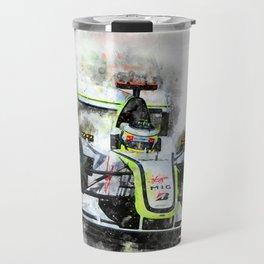 Jenson Button Brawn 2009 Travel Mug