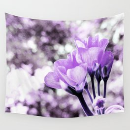 Ultraviolet Lavender Flowers Wall Tapestry