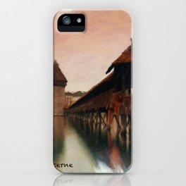 Lucerne Chapel Bridge 1 iPhone Case