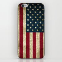 american flag iPhone & iPod Skins featuring American Flag by Nechifor Ionut