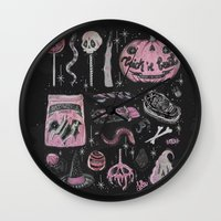 loll3 Wall Clocks featuring Trick 'r Treat by lOll3