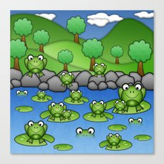 Froggies!  Canvas Print