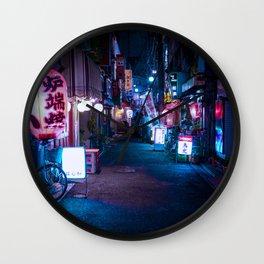 Japan Neon Wallpaper, Japan Neon Street Wall Art, Japanese Wall Art Wall Clock