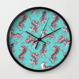 Bright Tigers Wall Clock